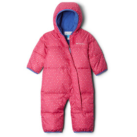 Columbia Snuggly Bunny Bunting Overall Baby, pink ice sparkler/arctic blue